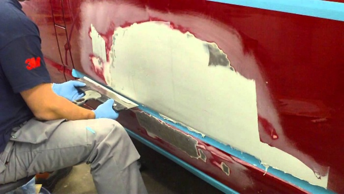 Подготовка к покраска автомобиля своими руками видео
